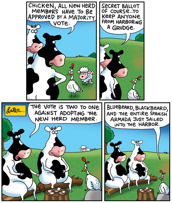 2 Cows and a Chicken by Steve Skelton for May 22, 2019