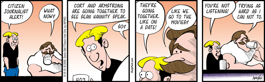 Rudy Park by Darrin Bell and Theron Heir for September 19, 2019