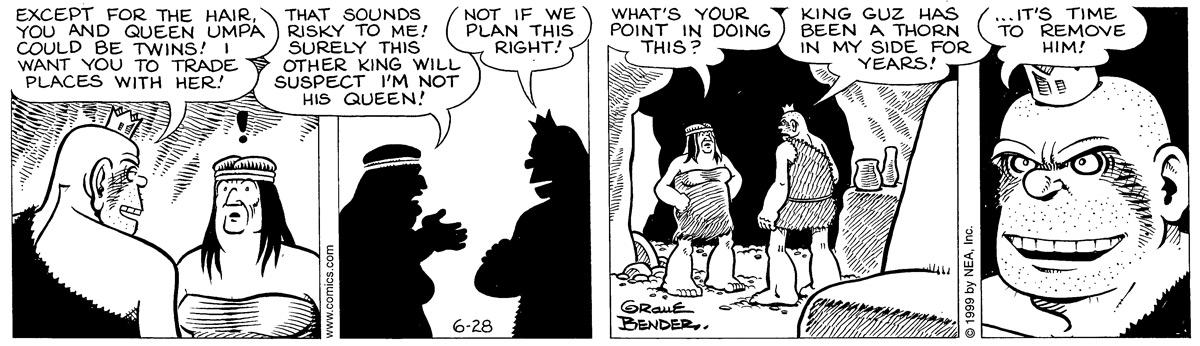 Alley Oop for Jun 28, 1999 Comic Strip