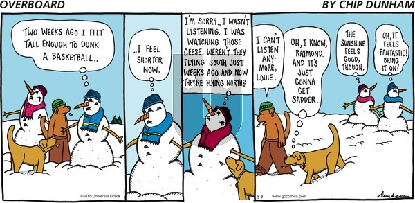Overboard on Sunday March 8, 2015 Comic Strip
