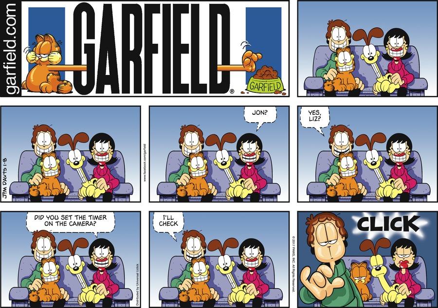 Garfield Comic Strip for January 08, 2017