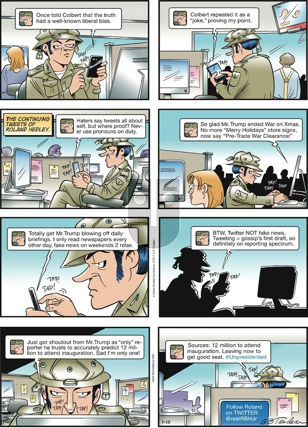 Doonesbury on Sunday January 15, 2017 Comic Strip