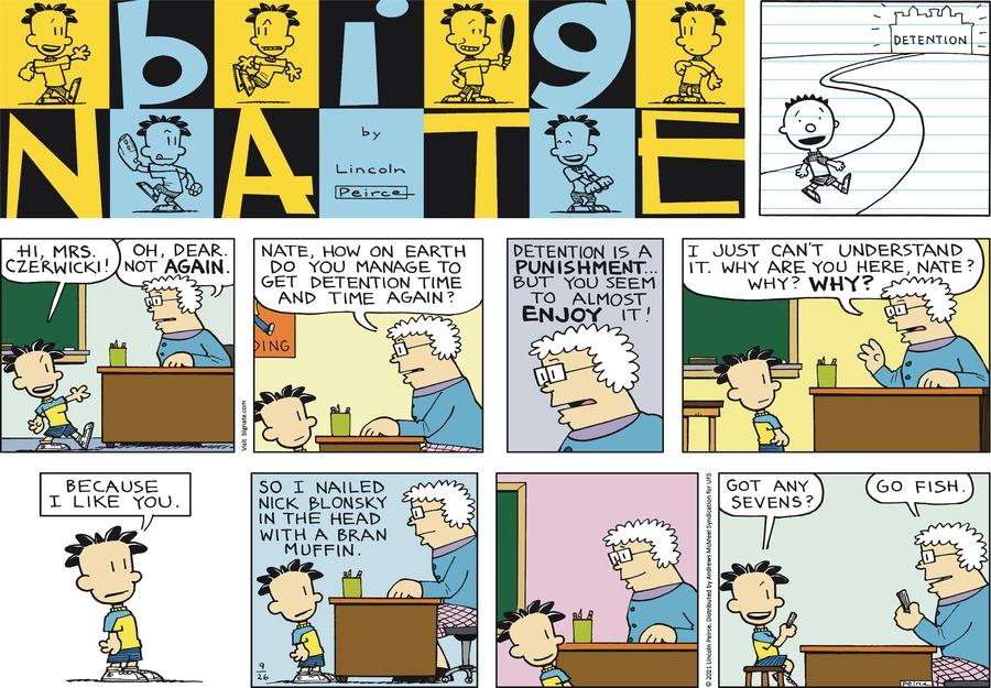Big Nate Comic Strip for September 26, 2021