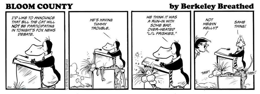 Bloom County 2019 Comic Strip for February 04, 2016