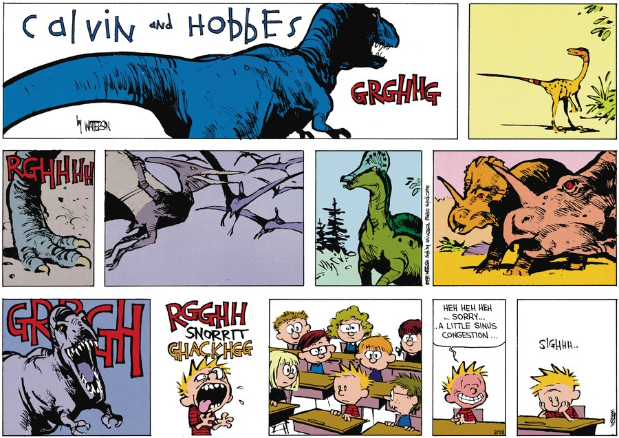 Calvin and Hobbes Comic Strip for April 07, 1991