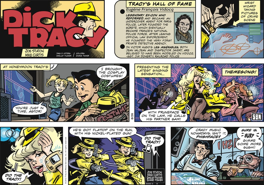 Dick Tracy Comic Strip for August 26, 2012
