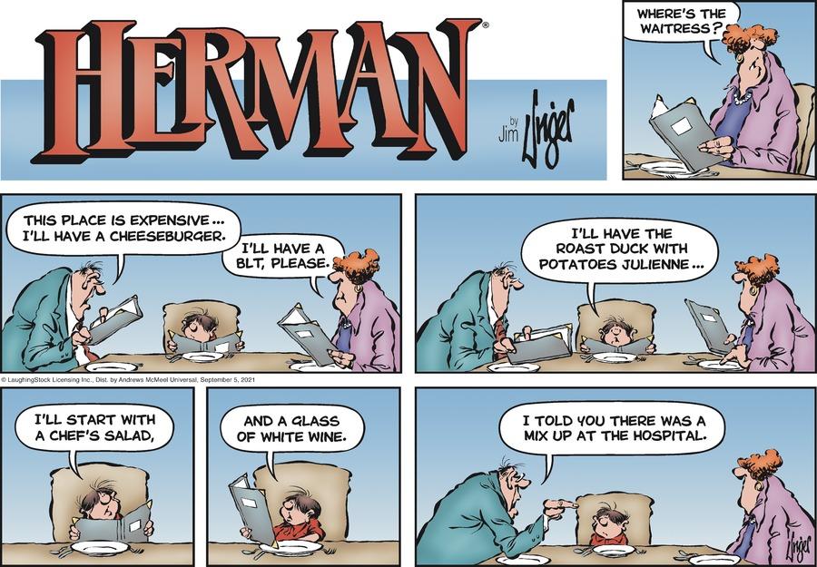 Herman Comic Strip for September 05, 2021