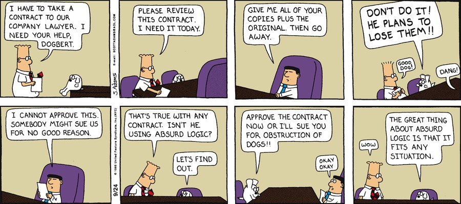 Dilbert Classics Comic Strip for October 07, 2018