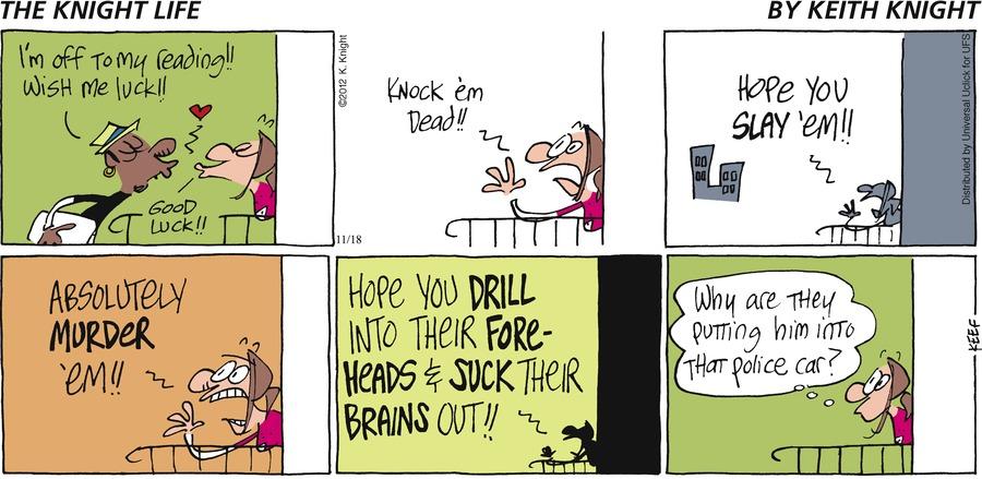 The Knight Life for Nov 18, 2012 Comic Strip