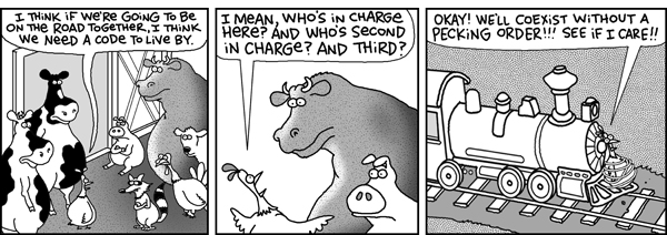 2 Cows and a Chicken Comic Strip for August 21, 2008