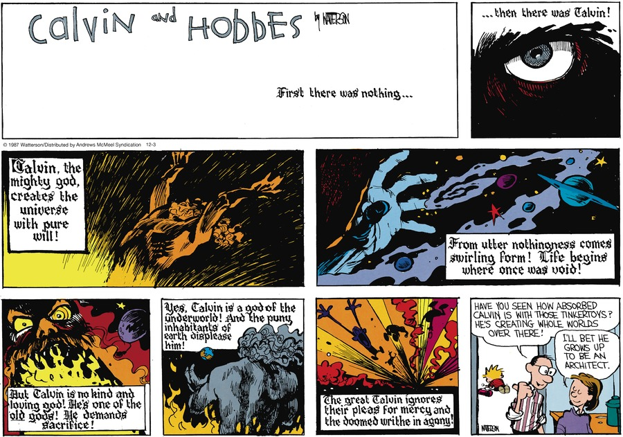 Calvin and Hobbes Comic Strip for December 03, 2017