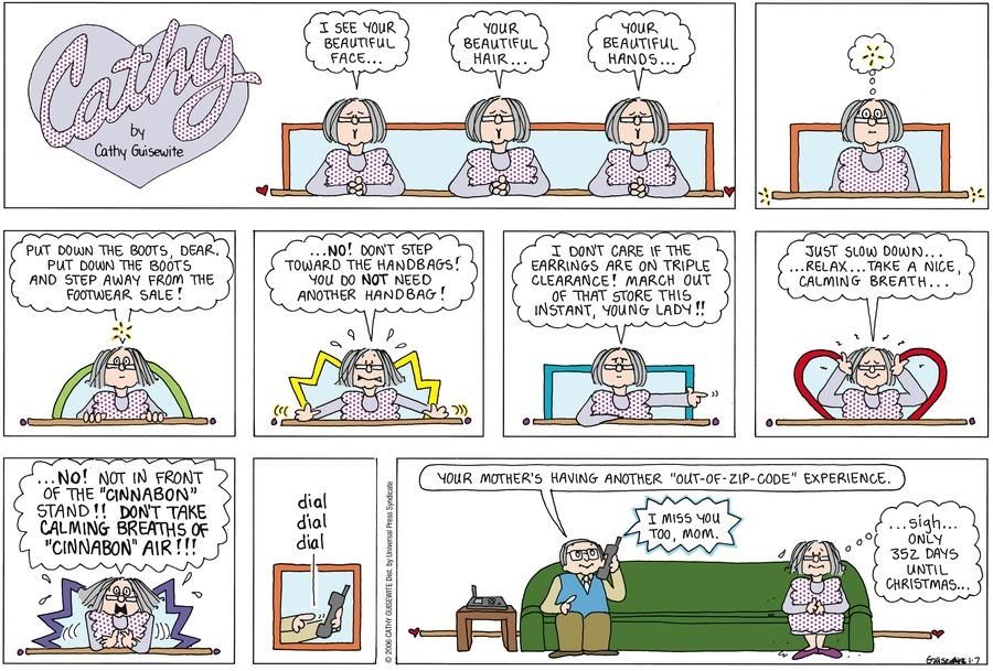 Cathy Classics Comic Strip for January 07, 2007