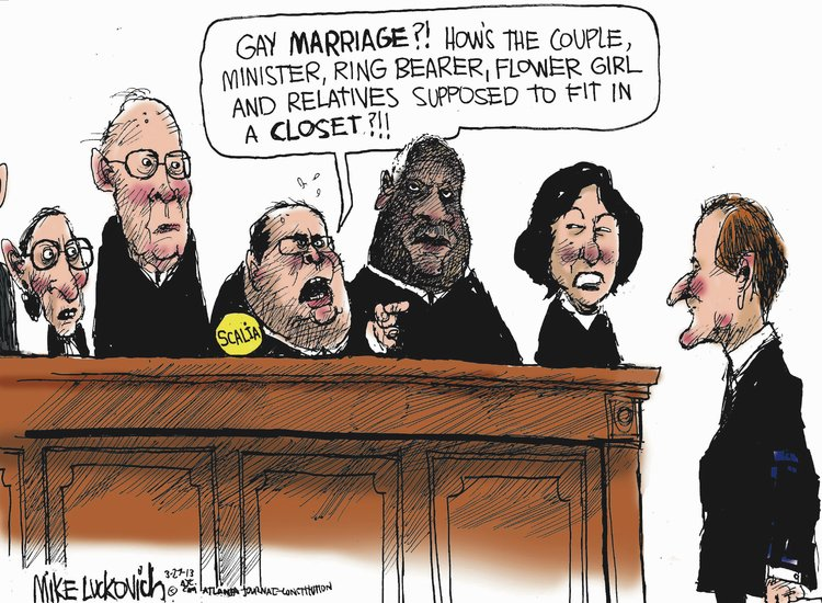Mike Luckovich for Mar 27, 2013 Comic Strip