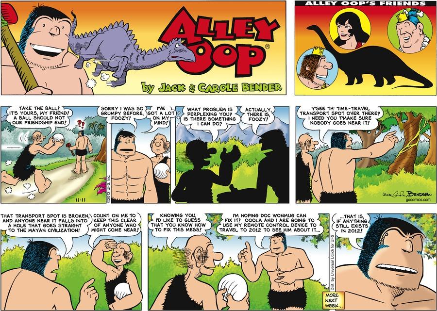 Alley Oop for Nov 11, 2012 Comic Strip