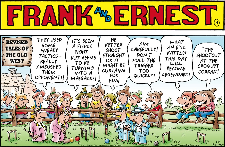 Frank and Ernest Comic Strip for January 08, 2017