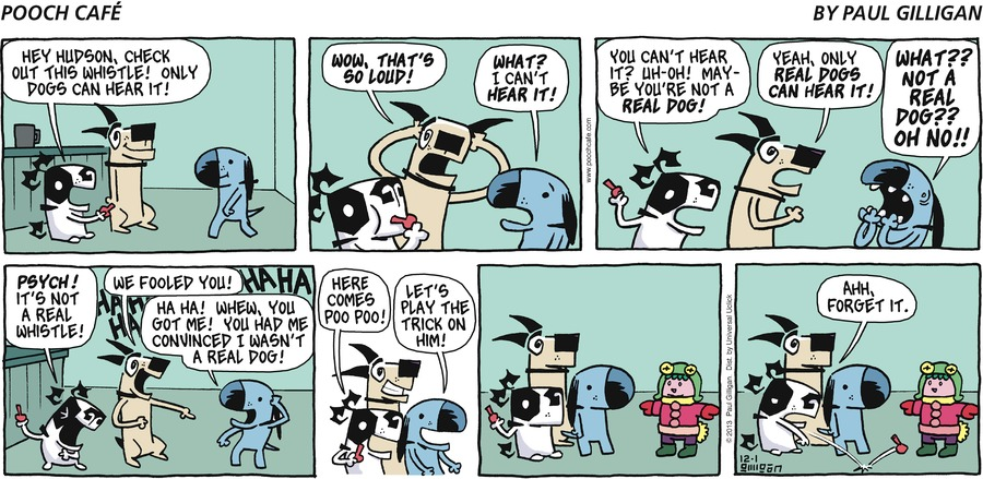 Pooch Cafe Comic Strip for December 01, 2013