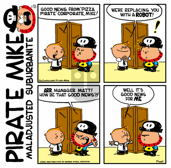 Pirate Mike on Friday April 30, 2021 Comic Strip