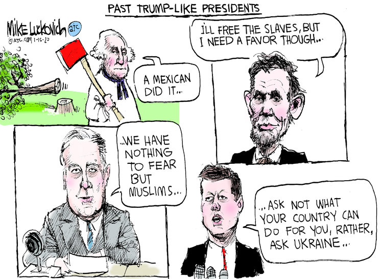 Mike Luckovich Comic Strip for January 15, 2020