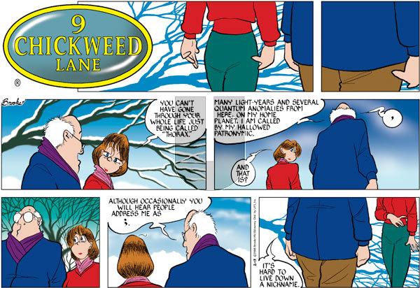 9 Chickweed Lane on Sunday February 13, 2005 Comic Strip