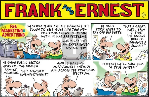 Frank and Ernest on Sunday March 20, 2016 Comic Strip