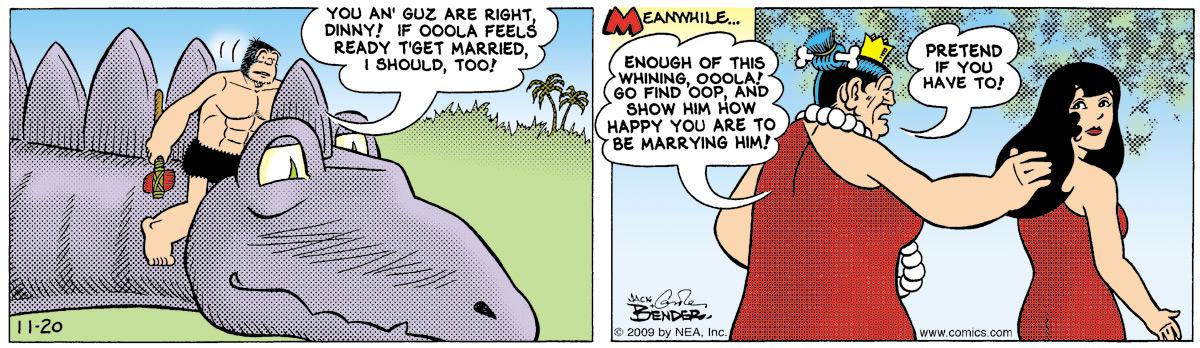 Alley Oop for Nov 20, 2009 Comic Strip