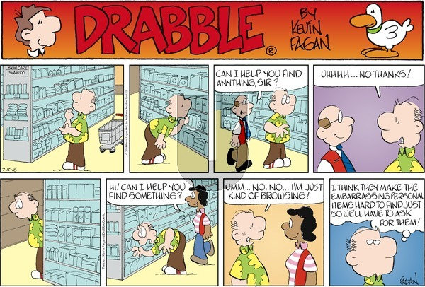 Drabble on Sunday July 15, 2018 Comic Strip