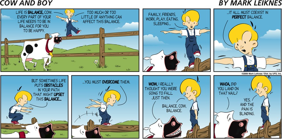 Cow and Boy Classics for May 28, 2006 Comic Strip
