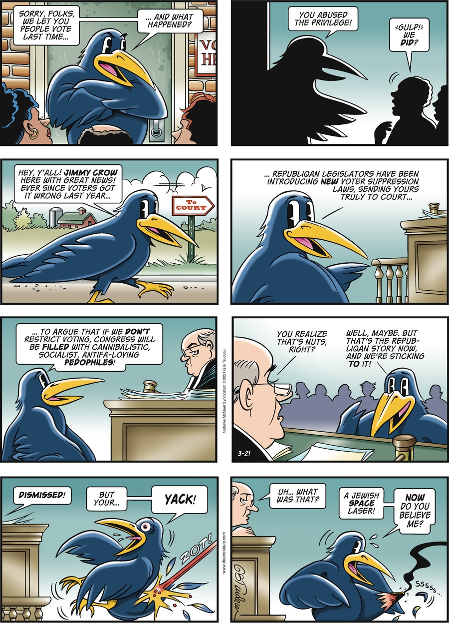Doonesbury Comic Strip for March 21, 2021