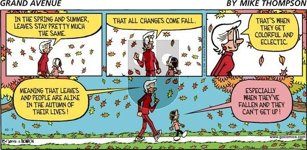 Grand Avenue on Sunday October 7, 2018 Comic Strip