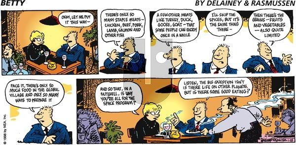 Betty on Sunday January 25, 1998 Comic Strip