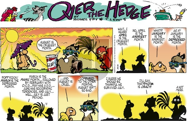 Over the Hedge on Sunday August 4, 2013 Comic Strip
