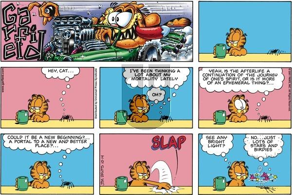 Garfield on Sunday October 14, 2001 Comic Strip
