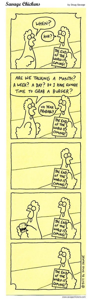 Savage Chickens Comic Strip for September 05, 2018