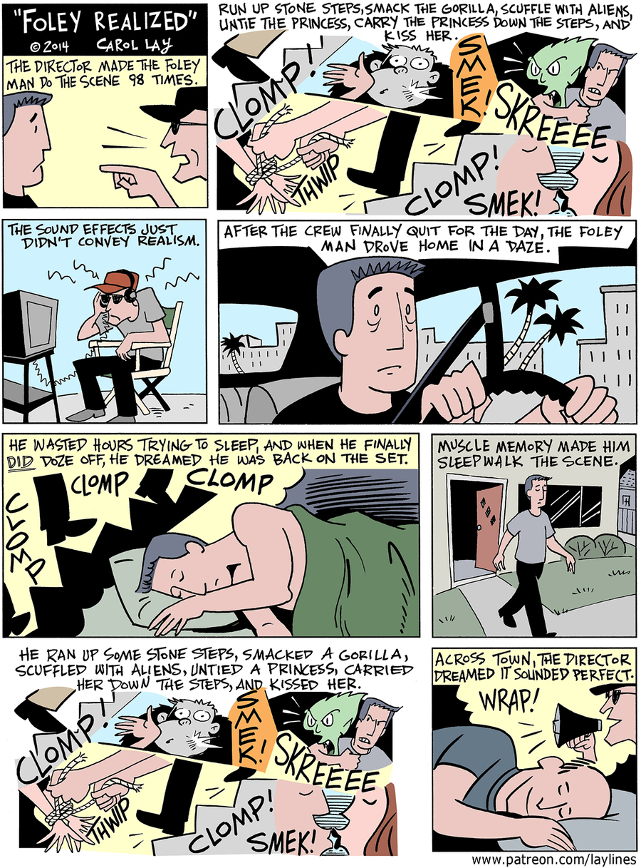 Lay Lines Comic Strip for February 16, 2016