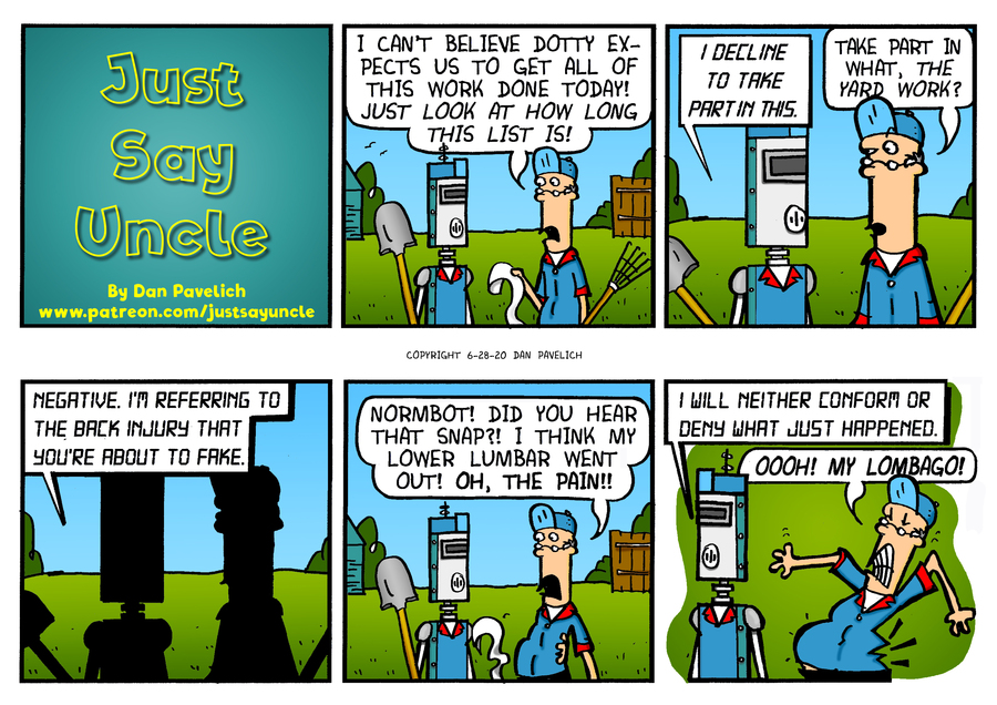 Just Say Uncle Comic Strip for June 28, 2020
