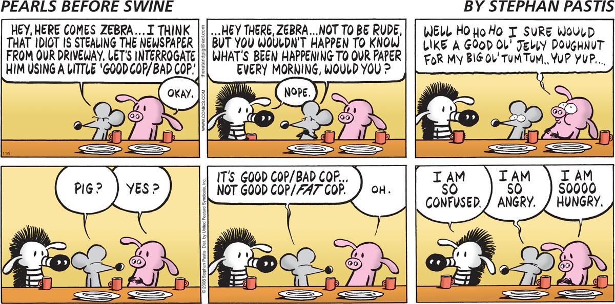 Pearls Before Swine Comic Strip for November 09, 2008