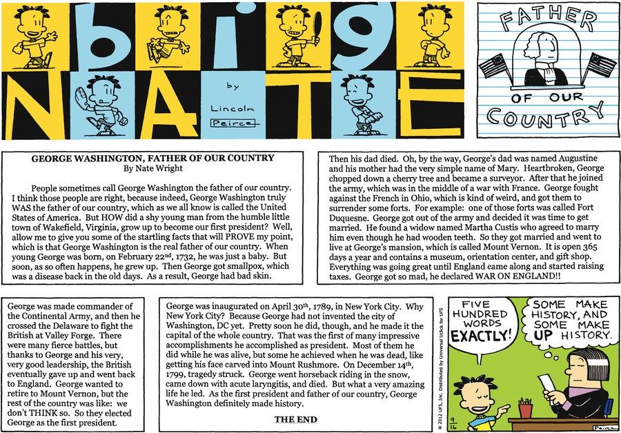 Big Nate for Sep 16, 2012 Comic Strip