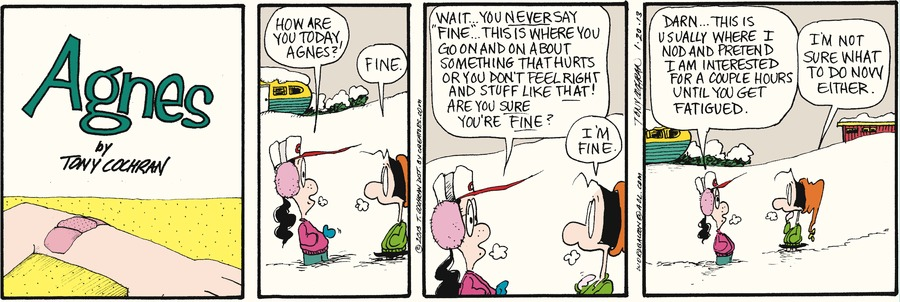 Agnes for Jan 20, 2013 Comic Strip