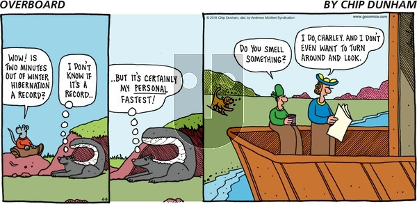 Overboard on Sunday April 8, 2018 Comic Strip