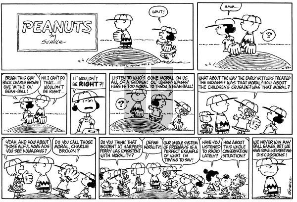 Peanuts on Sunday April 18, 1965 Comic Strip