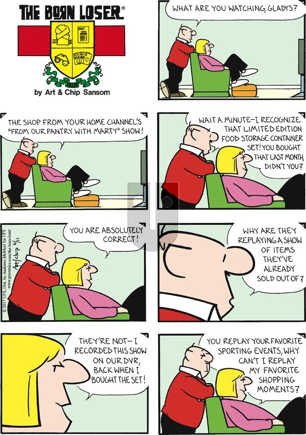 The Born Loser on Sunday June 11, 2017 Comic Strip