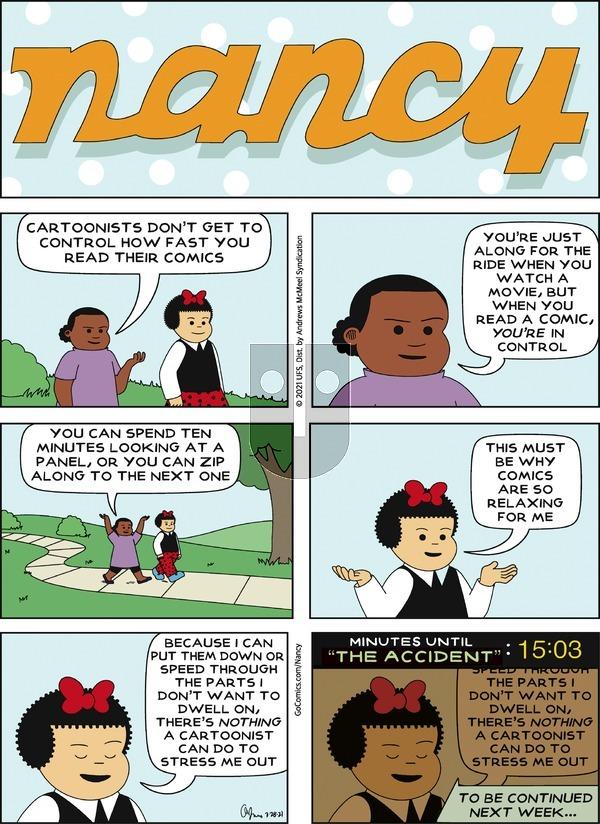 Nancy on Sunday March 28, 2021 Comic Strip