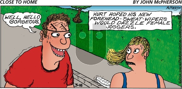 Close to Home on Sunday March 18, 2018 Comic Strip
