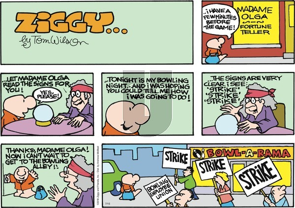 Ziggy on Sunday July 15, 2018 Comic Strip