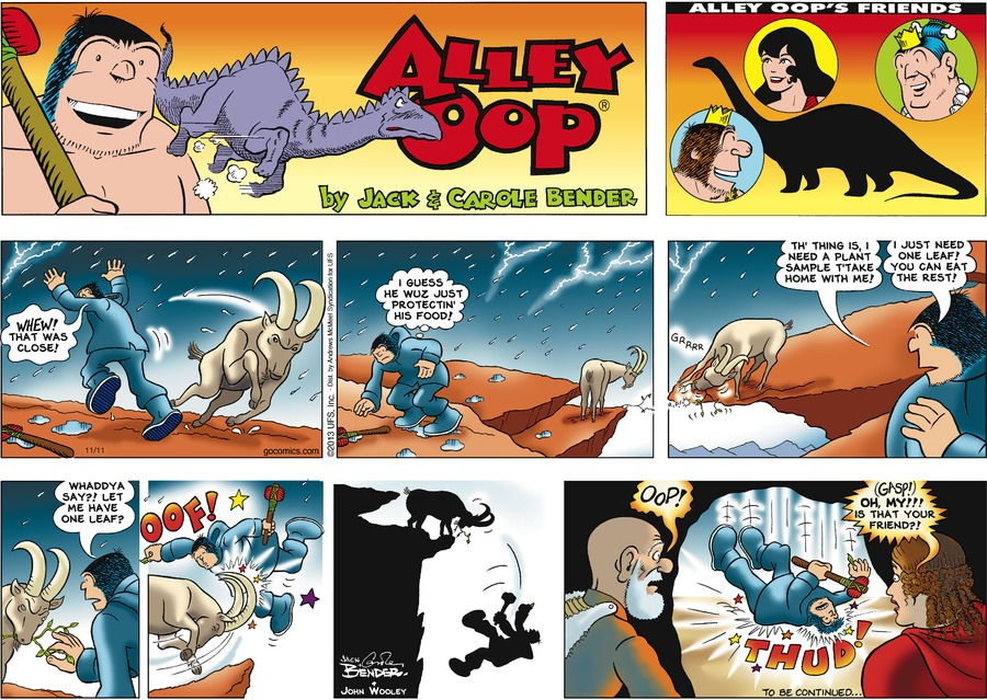 Alley Oop Comic Strip for November 11, 2018