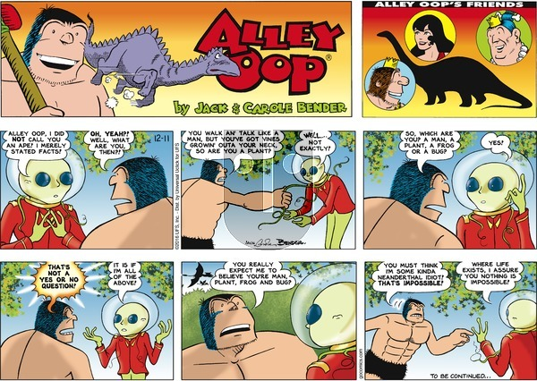 Alley Oop on Sunday December 11, 2016 Comic Strip