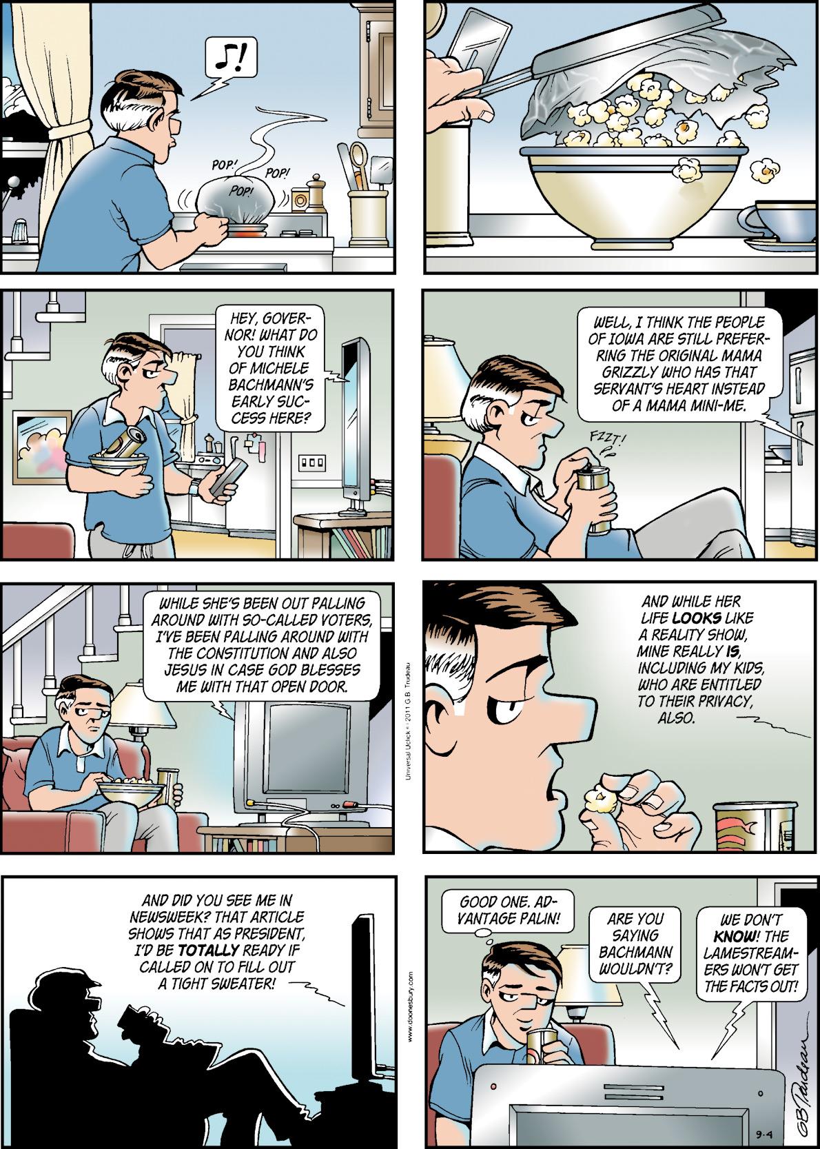 Doonesbury for Sep 4, 2011 Comic Strip