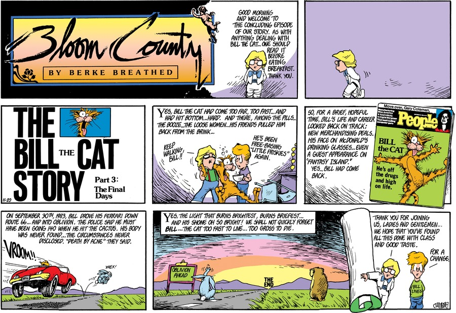 Bloom County by Berkeley Breathed for September 10, 2019