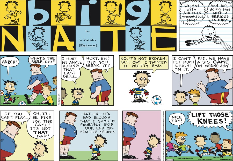 Big Nate Comic Strip for September 20, 2020