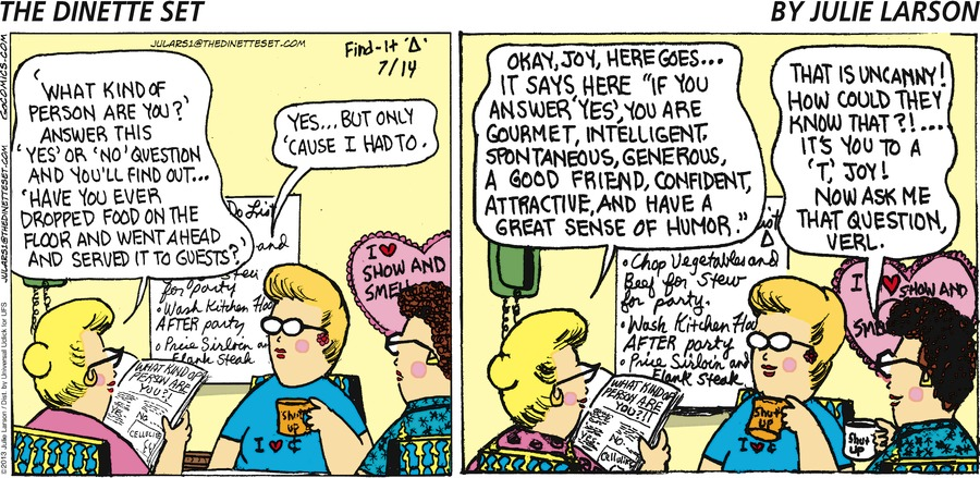 The Dinette Set Comic Strip for July 14, 2013
